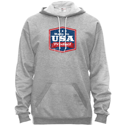Image of Apparel Made In USA Pullover Hooded Fleece / Heather Grey / X-Small MADE IN USA  Premium Hoodie or Triblend Tshirt