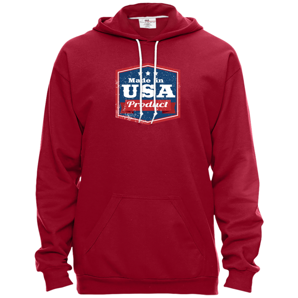 Apparel Made In USA Pullover Hooded Fleece / Independence Red / X-Small MADE IN USA  Premium Hoodie or Triblend Tshirt