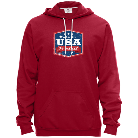 Image of Apparel Made In USA Pullover Hooded Fleece / Independence Red / X-Small MADE IN USA  Premium Hoodie or Triblend Tshirt