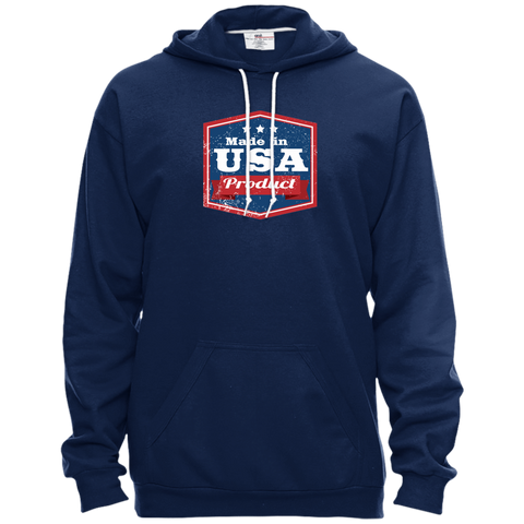 Image of Apparel Made In USA Pullover Hooded Fleece / Navy / X-Small MADE IN USA  Premium Hoodie or Triblend Tshirt