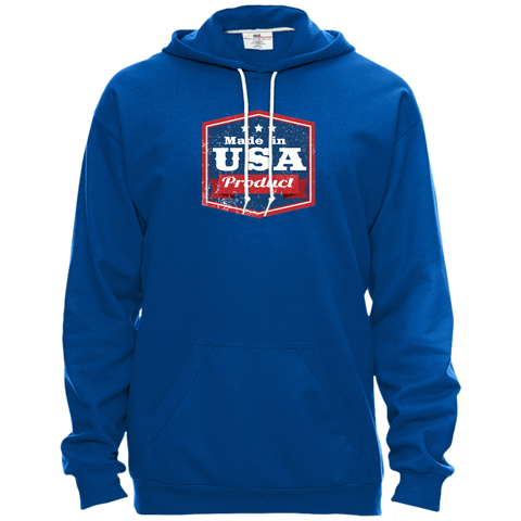 Image of Apparel Made In USA Pullover Hooded Fleece / Royal Blue / X-Small MADE IN USA  Premium Hoodie or Triblend Tshirt