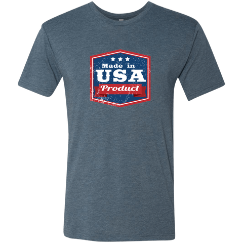 Image of Apparel Made In USA  Triblend T-Shirt / Indigo / S MADE IN USA  Premium Hoodie or Triblend Tshirt