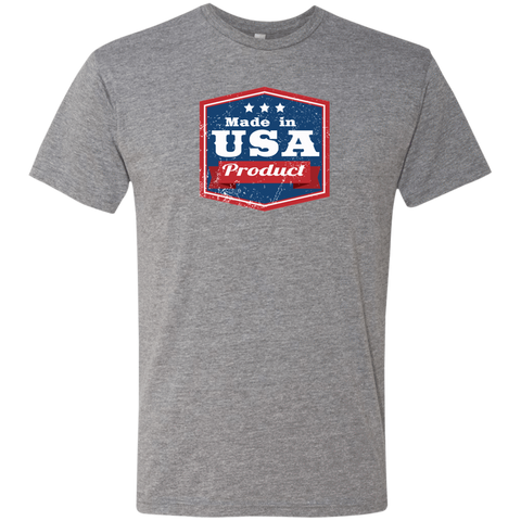 Image of Apparel Made In USA  Triblend T-Shirt / Premium Heather / S MADE IN USA  Premium Hoodie or Triblend Tshirt