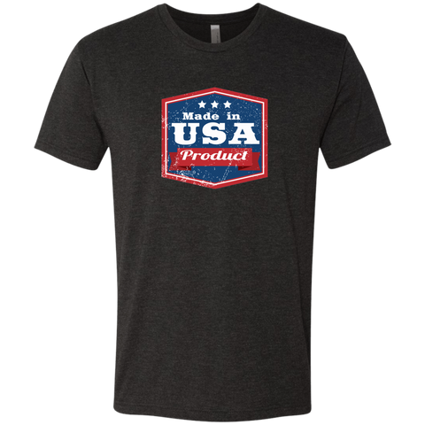 Image of Apparel Made In USA  Triblend T-Shirt / Vintage Black / S MADE IN USA  Premium Hoodie or Triblend Tshirt