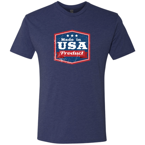 Image of Apparel Made In USA  Triblend T-Shirt / Vintage Navy / S MADE IN USA  Premium Hoodie or Triblend Tshirt