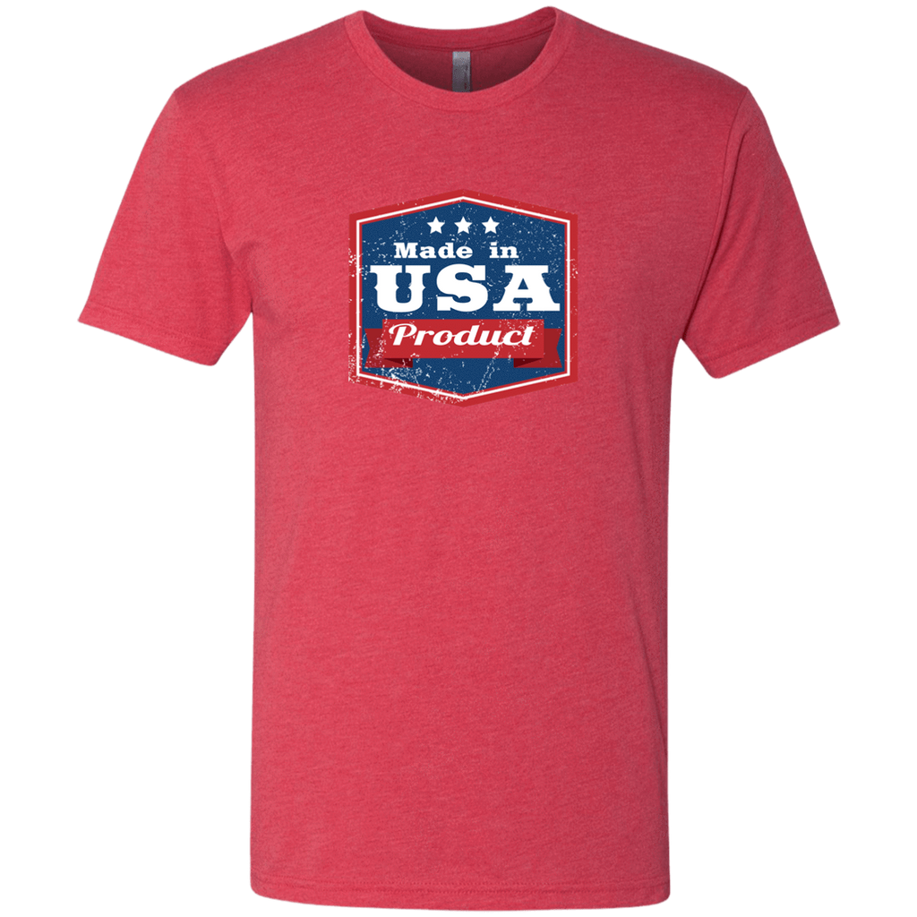 Apparel Made In USA  Triblend T-Shirt / Vintage Red / S MADE IN USA  Premium Hoodie or Triblend Tshirt
