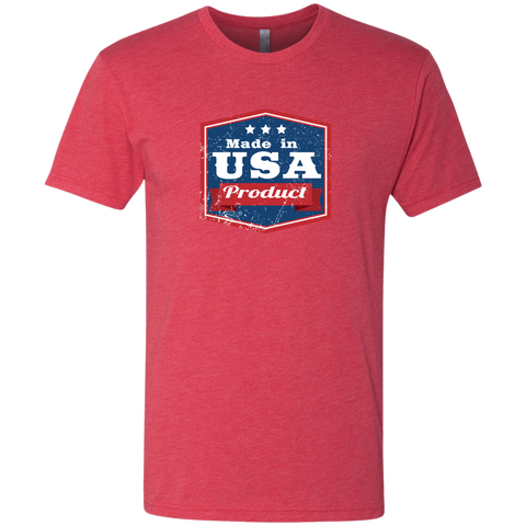 Image of Apparel Made In USA  Triblend T-Shirt / Vintage Red / S MADE IN USA  Premium Hoodie or Triblend Tshirt