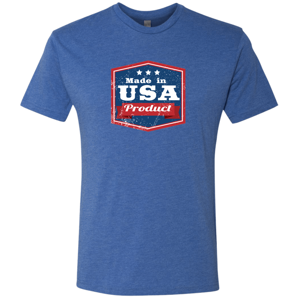 Apparel Made In USA  Triblend T-Shirt / Vintage Royal / S MADE IN USA  Premium Hoodie or Triblend Tshirt