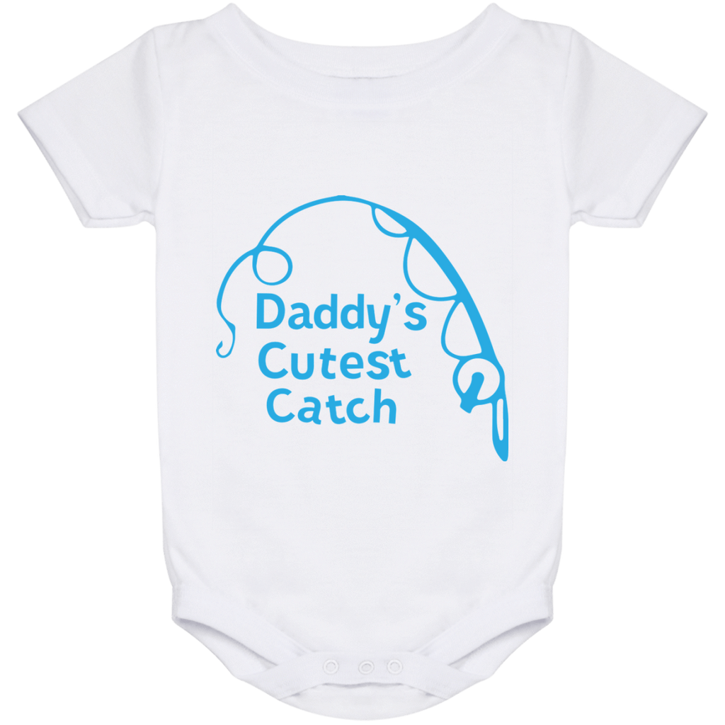 Baby Onesies Baby Onesie 24 Month / White / One Size Cutest Catch Fishing Baby Onesies Boy