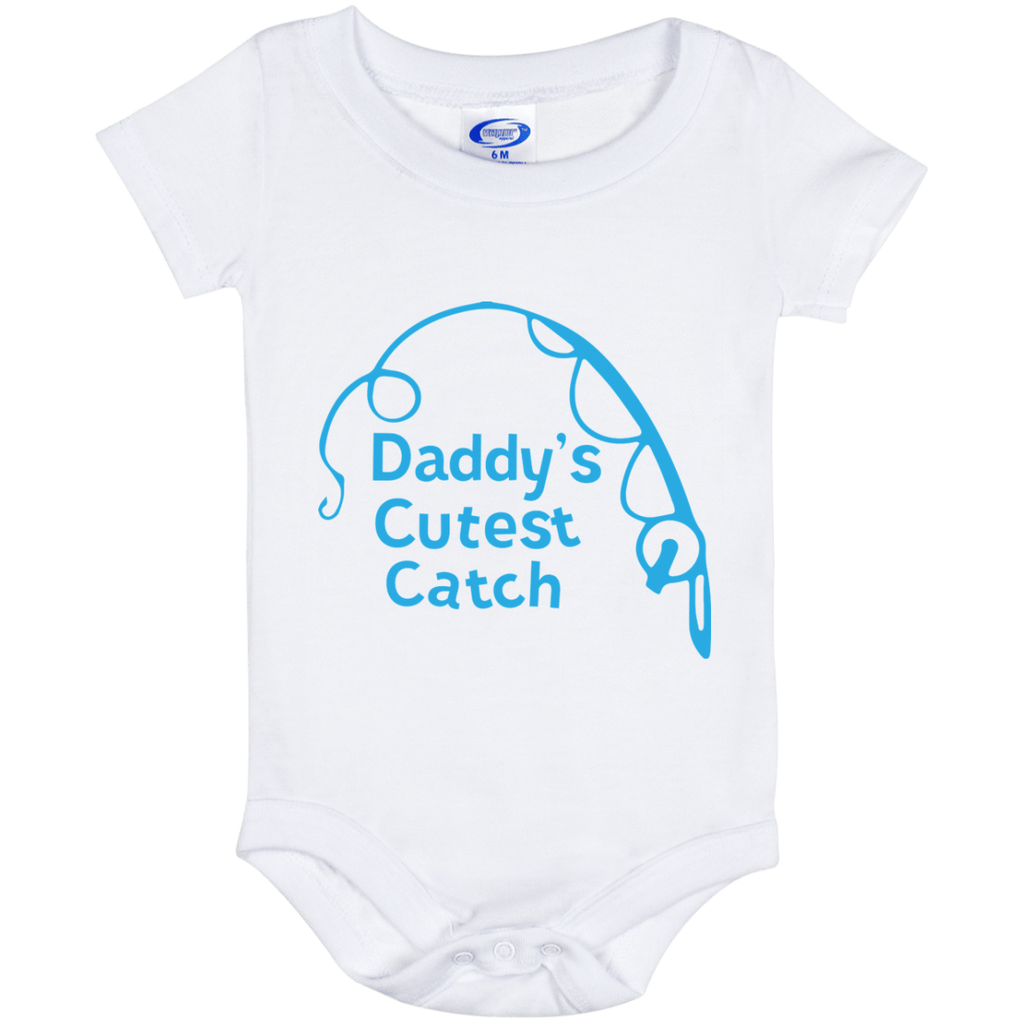 Baby Onesies Baby Onesie 6 Month / White / One Size Cutest Catch Fishing Baby Onesies Boy