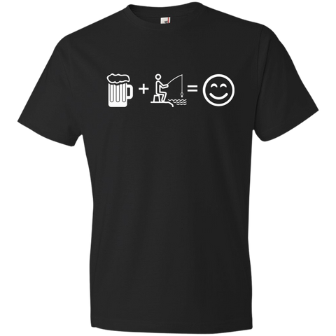 Image of T-Shirts Black / S Fishing Beer Love T-Shirt