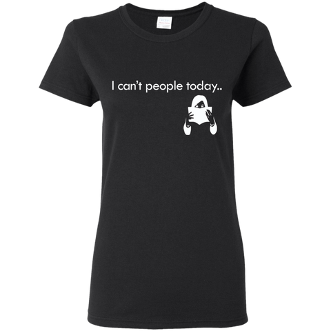 "Image of T-Shirts Black / S ""I Cant People Today"" T-Shirt"