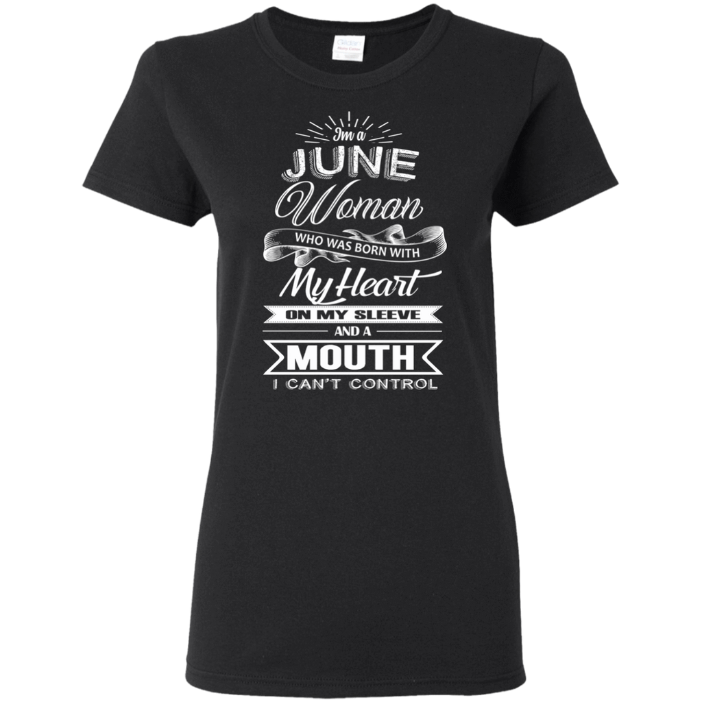 T-Shirts Black / S June Woman - Ladies' 5.3 oz. T-Shirt