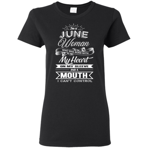 Image of T-Shirts Black / S June Woman - Ladies' 5.3 oz. T-Shirt