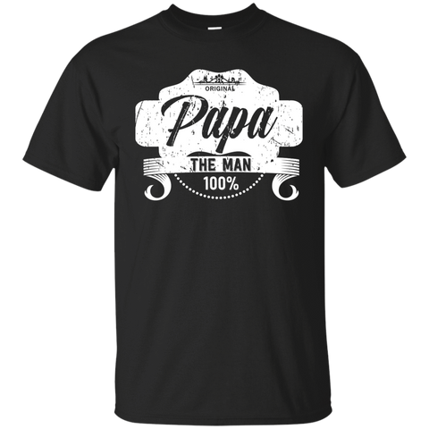 T-Shirts Black / S Papa The Man T-shirt