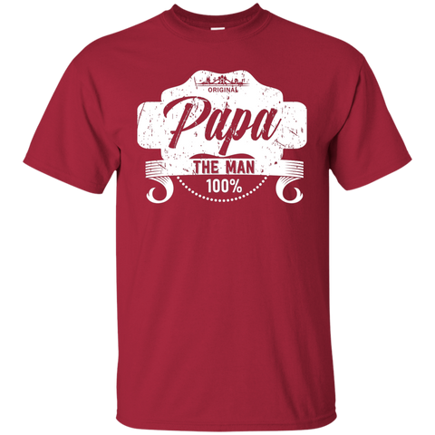 T-Shirts Cardinal / S Papa The Man T-shirt