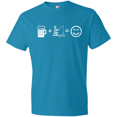 Image of T-Shirts Caribbean Blue / S Fishing Beer Love T-Shirt