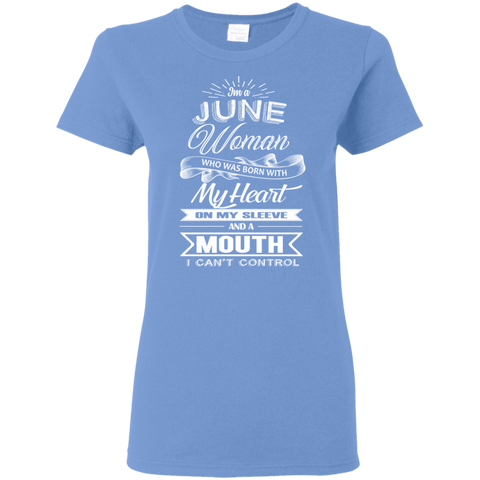 T-Shirts Carolina Blue / S June Woman - Ladies' 5.3 oz. T-Shirt