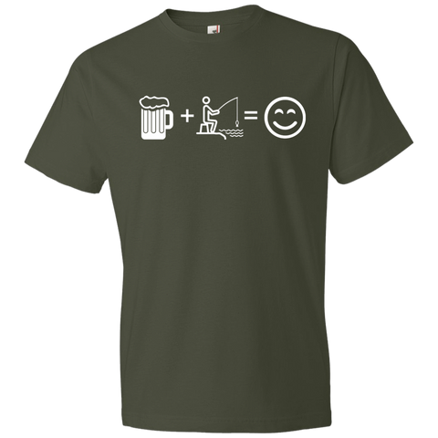 Image of T-Shirts City Green / S Fishing Beer Love T-Shirt