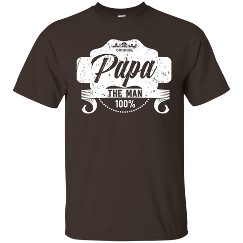 T-Shirts Dark Chocolate / S Papa The Man T-shirt