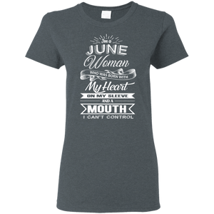 T-Shirts Dark Heather / S June Woman - Ladies' 5.3 oz. T-Shirt