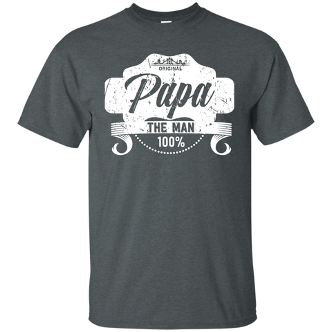 T-Shirts Dark Heather / S Papa The Man T-shirt