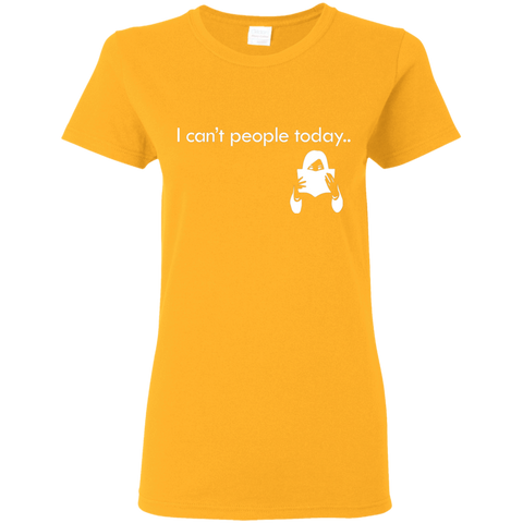 "Image of T-Shirts Gold / S ""I Cant People Today"" T-Shirt"