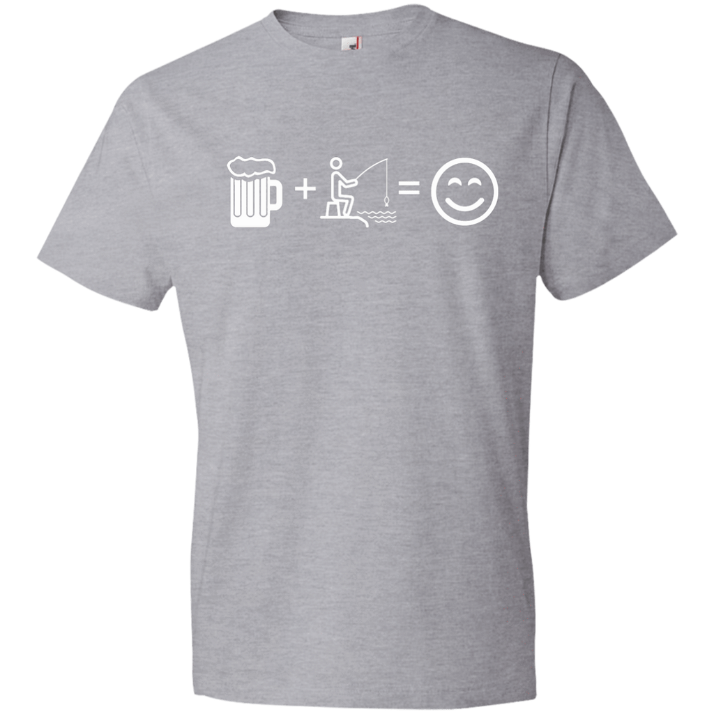 T-Shirts Heather Grey / S Fishing Beer Love T-Shirt
