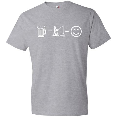 Image of T-Shirts Heather Grey / S Fishing Beer Love T-Shirt