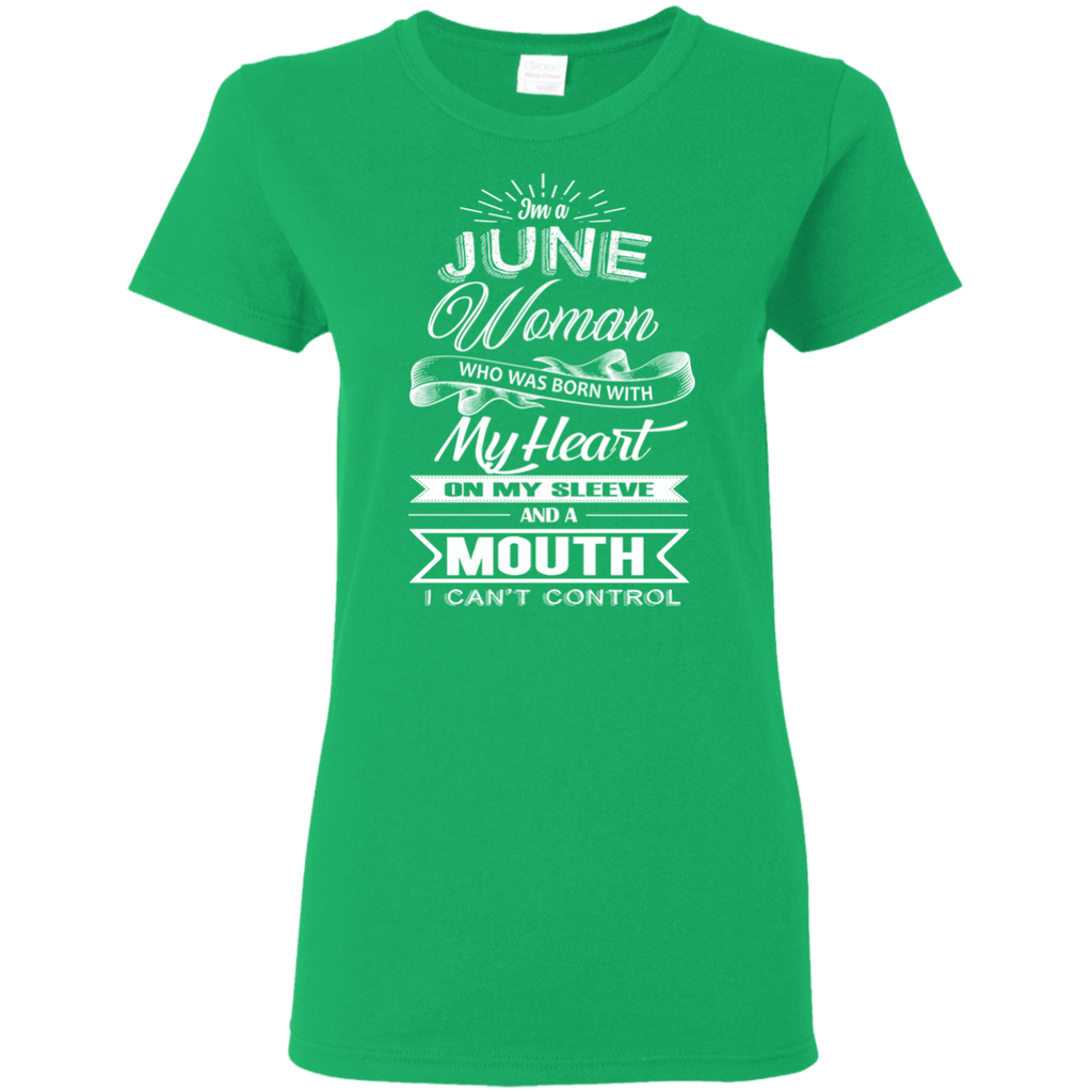 T-Shirts Irish Green / S June Woman - Ladies' 5.3 oz. T-Shirt
