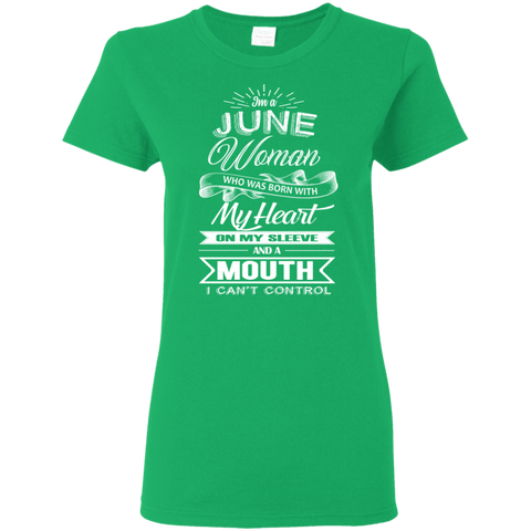 Image of T-Shirts Irish Green / S June Woman - Ladies' 5.3 oz. T-Shirt