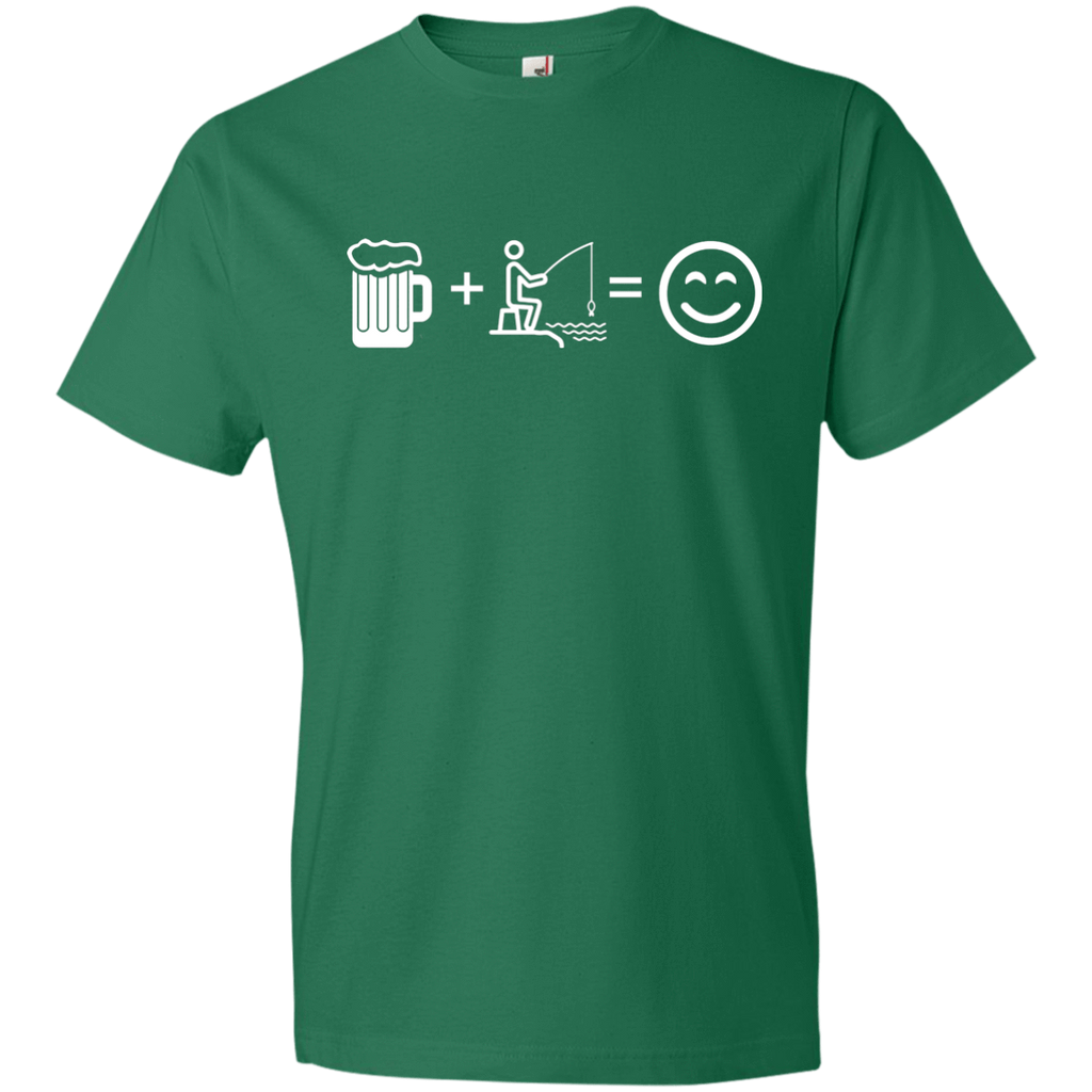T-Shirts Kelly Green / S Fishing Beer Love T-Shirt