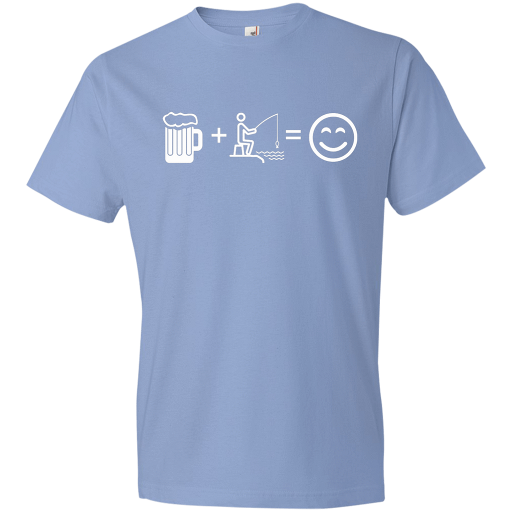 T-Shirts Light Blue / S Fishing Beer Love T-Shirt