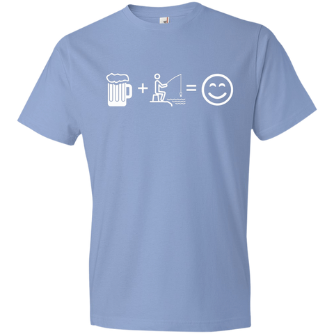 Image of T-Shirts Light Blue / S Fishing Beer Love T-Shirt