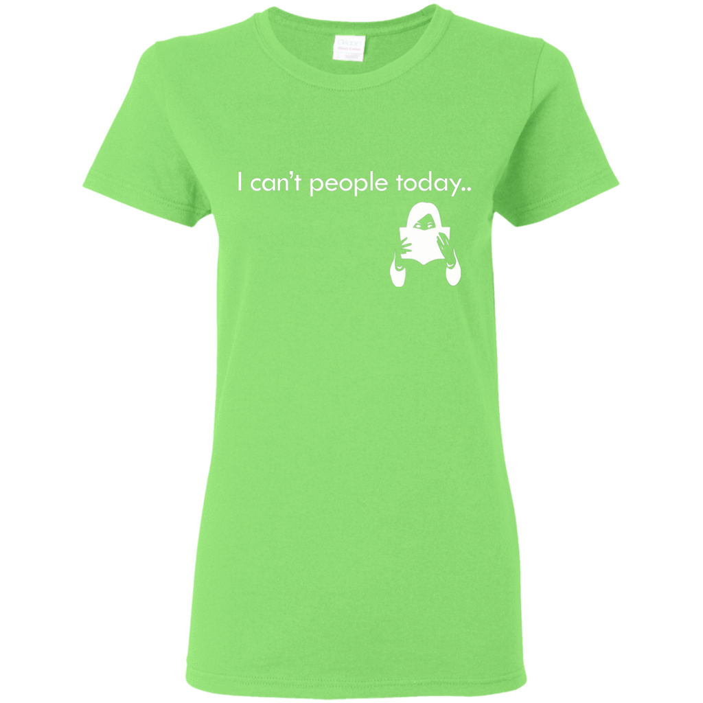 "T-Shirts Lime / S ""I Cant People Today"" T-Shirt"