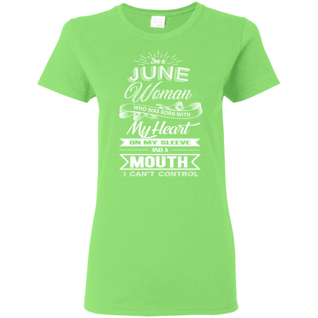 T-Shirts Lime / S June Woman - Ladies' 5.3 oz. T-Shirt
