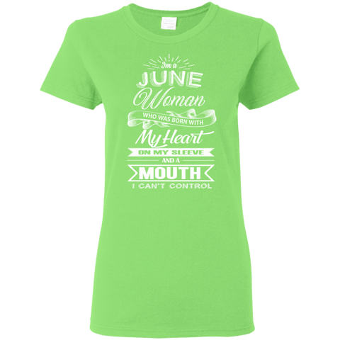 Image of T-Shirts Lime / S June Woman - Ladies' 5.3 oz. T-Shirt