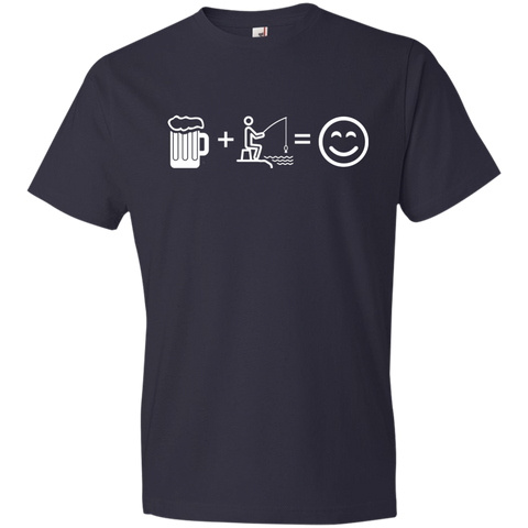 Image of T-Shirts Navy / S Fishing Beer Love T-Shirt