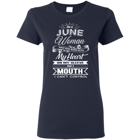 Image of T-Shirts Navy / S June Woman - Ladies' 5.3 oz. T-Shirt