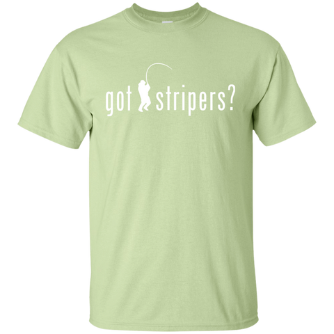Image of T-Shirts Pistachio / S Got Stripers  ? Fisherman Fishing T-shirt