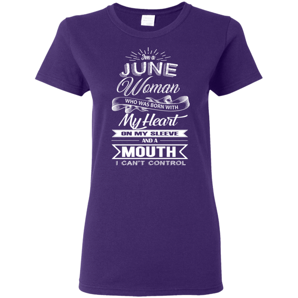 T-Shirts Purple / S June Woman - Ladies' 5.3 oz. T-Shirt