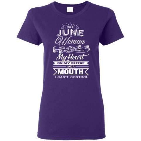 Image of T-Shirts Purple / S June Woman - Ladies' 5.3 oz. T-Shirt