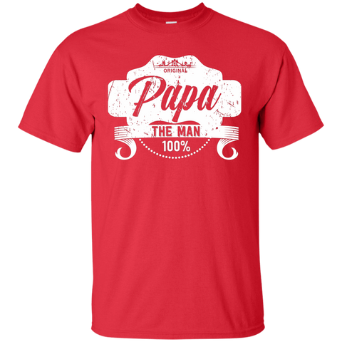 T-Shirts Red / S Papa The Man T-shirt