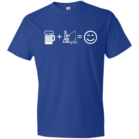 Image of T-Shirts Royal / S Fishing Beer Love T-Shirt