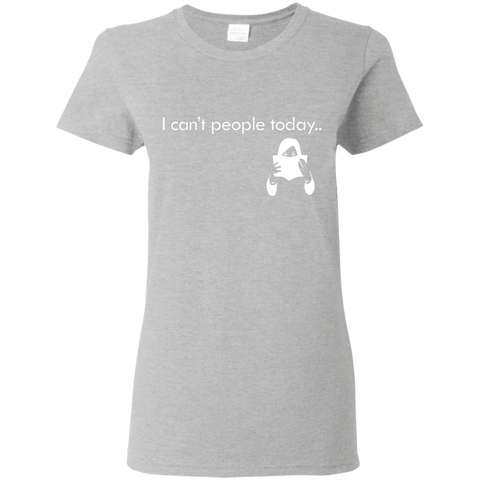 "Image of T-Shirts Sport Grey / S ""I Cant People Today"" T-Shirt"