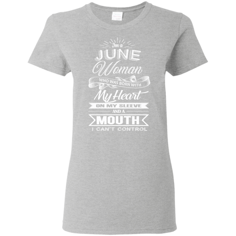 Image of T-Shirts Sport Grey / S June Woman - Ladies' 5.3 oz. T-Shirt