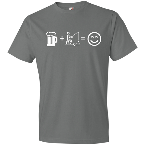 Image of T-Shirts Storm Grey / S Fishing Beer Love T-Shirt