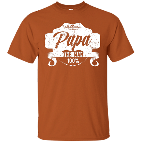 T-Shirts Texas Orange / S Papa The Man T-shirt