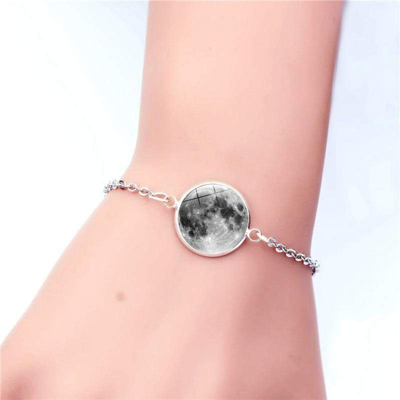 1 Moon Charm Bracelet Glow In The Dark