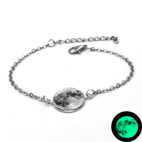 Image of 1 Moon Charm Bracelet Glow In The Dark